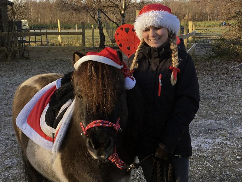 Ponyridning juletræsplantagen Fædreskave i Kastrup